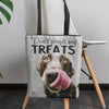 Labrador retriever dog art printed on Pink Poster tote bag