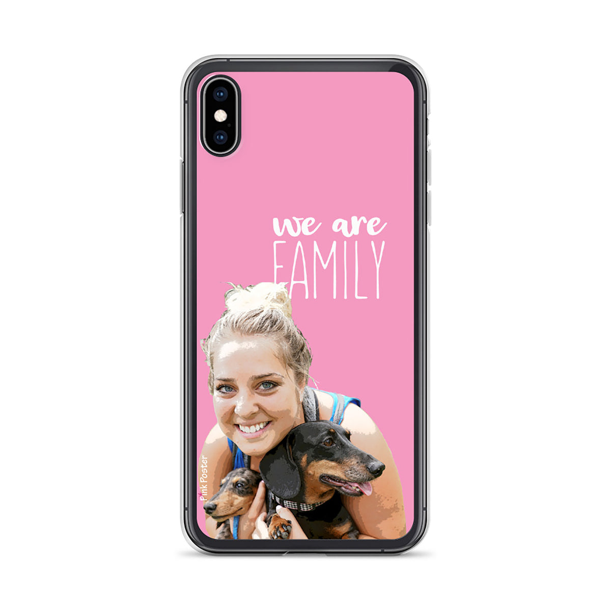 Custom phone case iPhone XS Max with personalized pop art on it