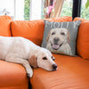 Your dog on a Pink Poster soft pillow