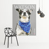 Custom dog pop art printed on large poster