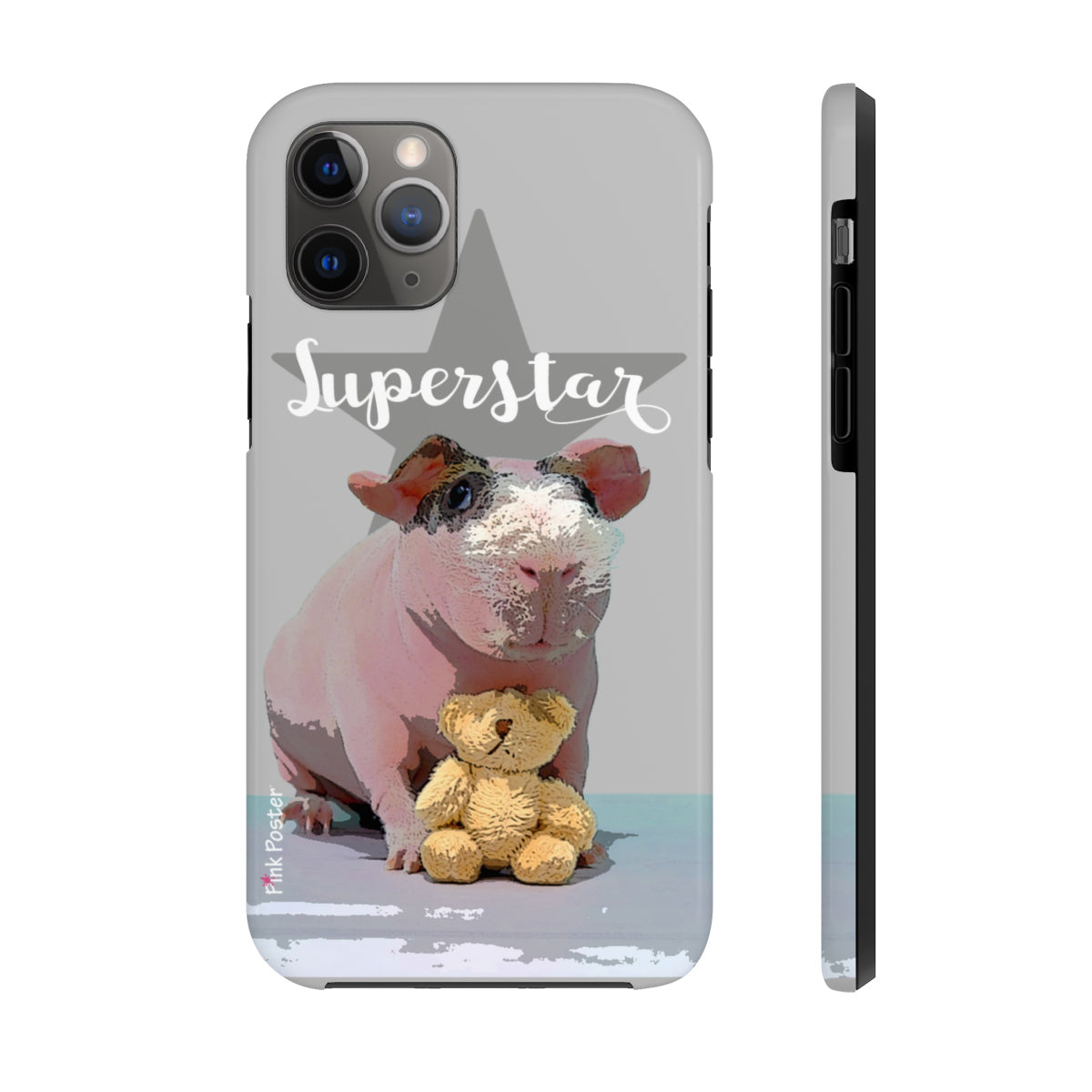 custom phone case with skinned pig art