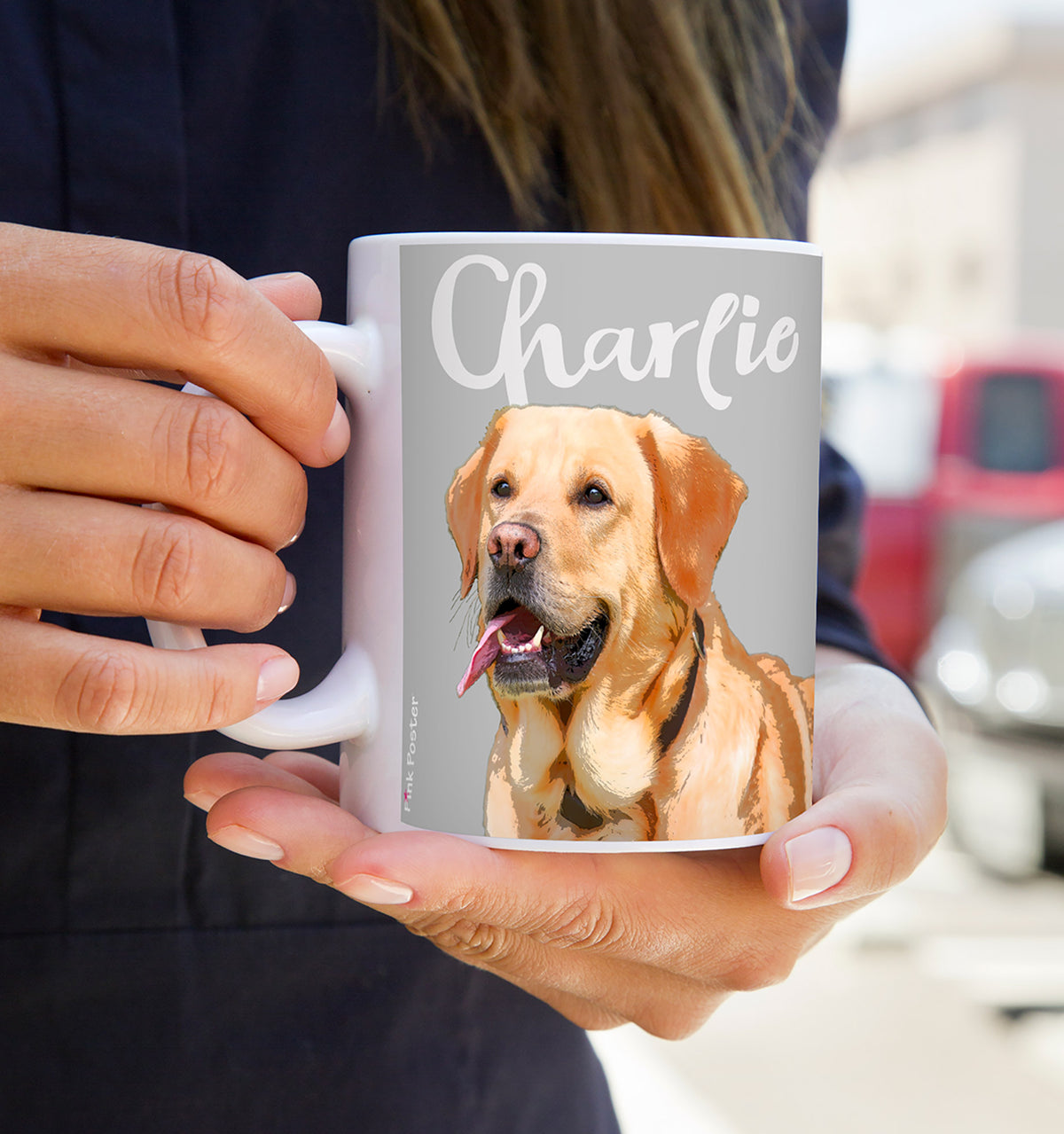 Personalized dog art of labrador dog on coffee mug