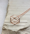 3D HEXAGON PENDANT - ROSE