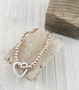 SWEET BEAD BRACELET - Rose Gold