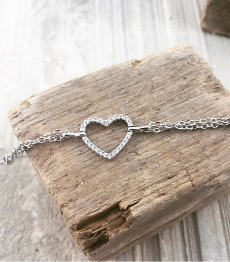 PAVE HEART - WHITE GOLD