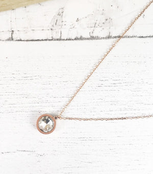 Crystal Rose Gold Pendant