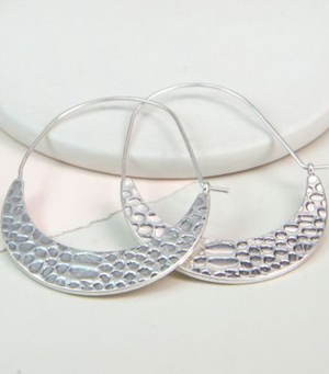 Snake Print Drop Hoop Earrings