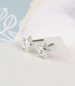 Caged Star Crystal Studs