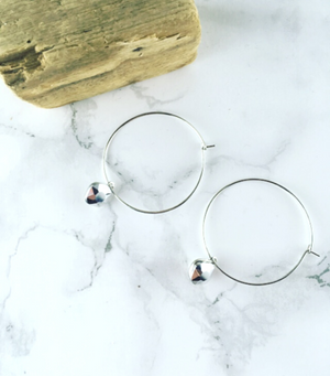 Little Gem Hoops - Silver