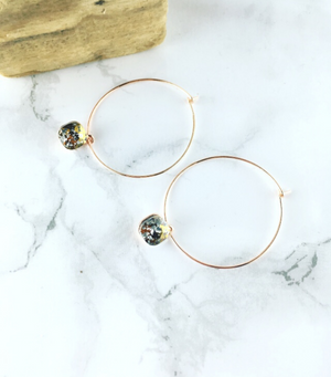 Little Gem Hoops - Rose