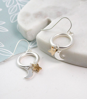 Moon and Star Hoops