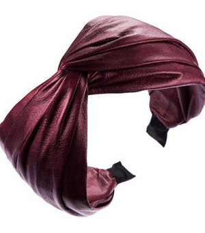 Burgundy Leather Look Hairband