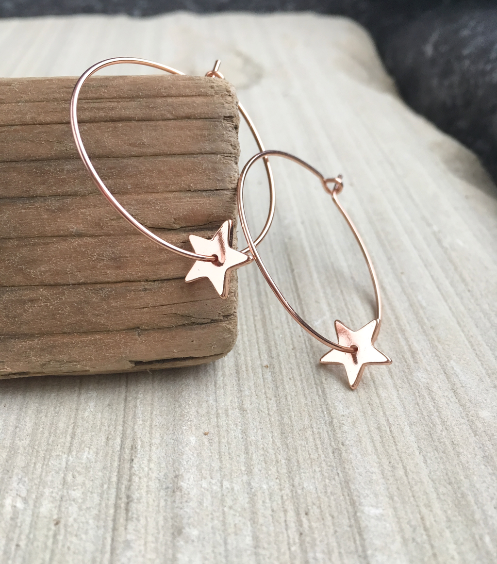 STAR HOOPS - ROSE