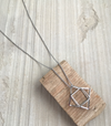 3D ABSTRACT LONG PENDANT - SILVER
