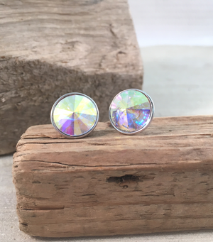 Rainbow Crystal Studs