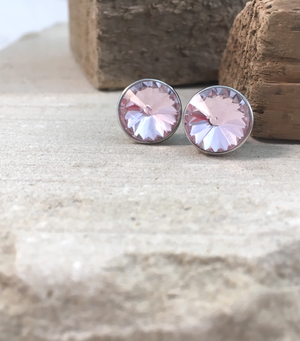 Pink Crystal Studs