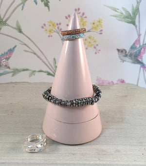 Peaks Jewellery Holder - Pink Cone