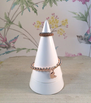 Peaks Jewellery Holder - White Cone