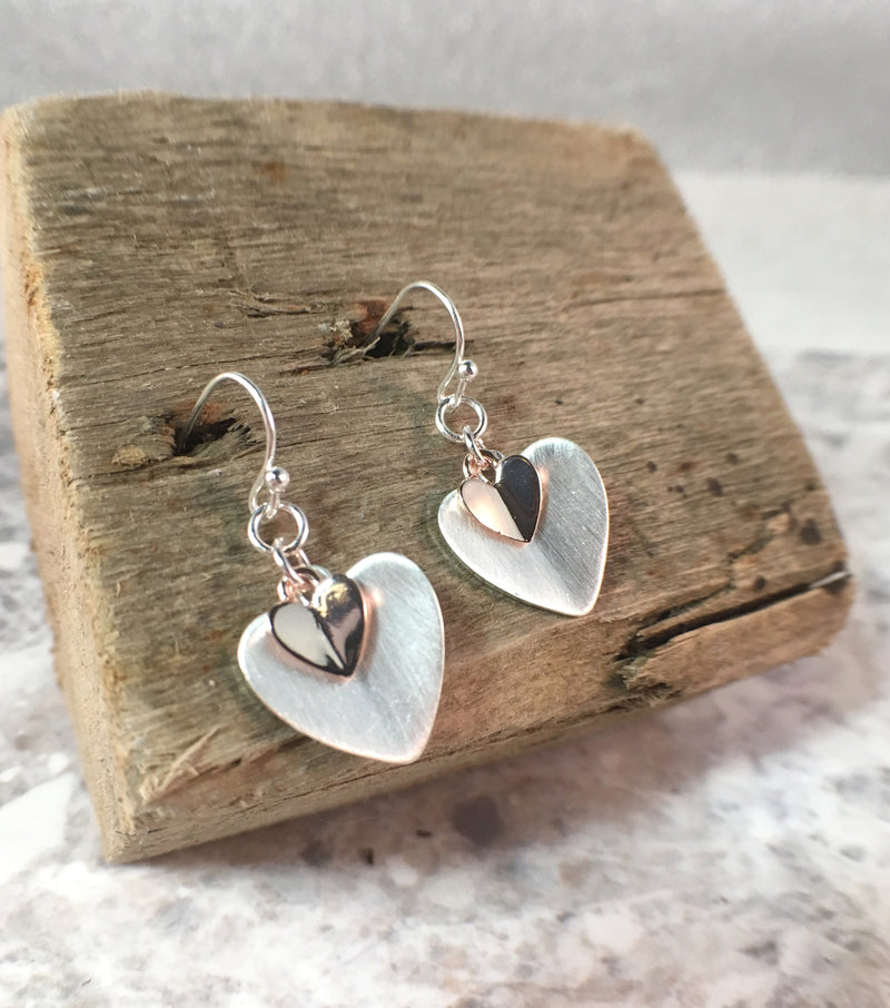 Folded Hearts Earrings