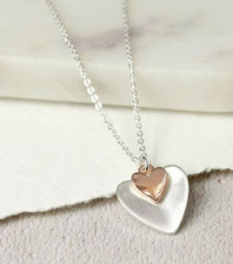 Folded Hearts Necklace