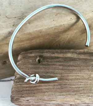 Side Knot Bangle - Silver