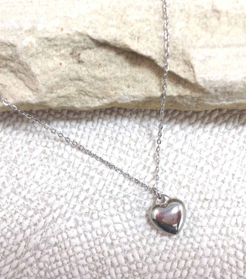 Simple Heart - White Gold