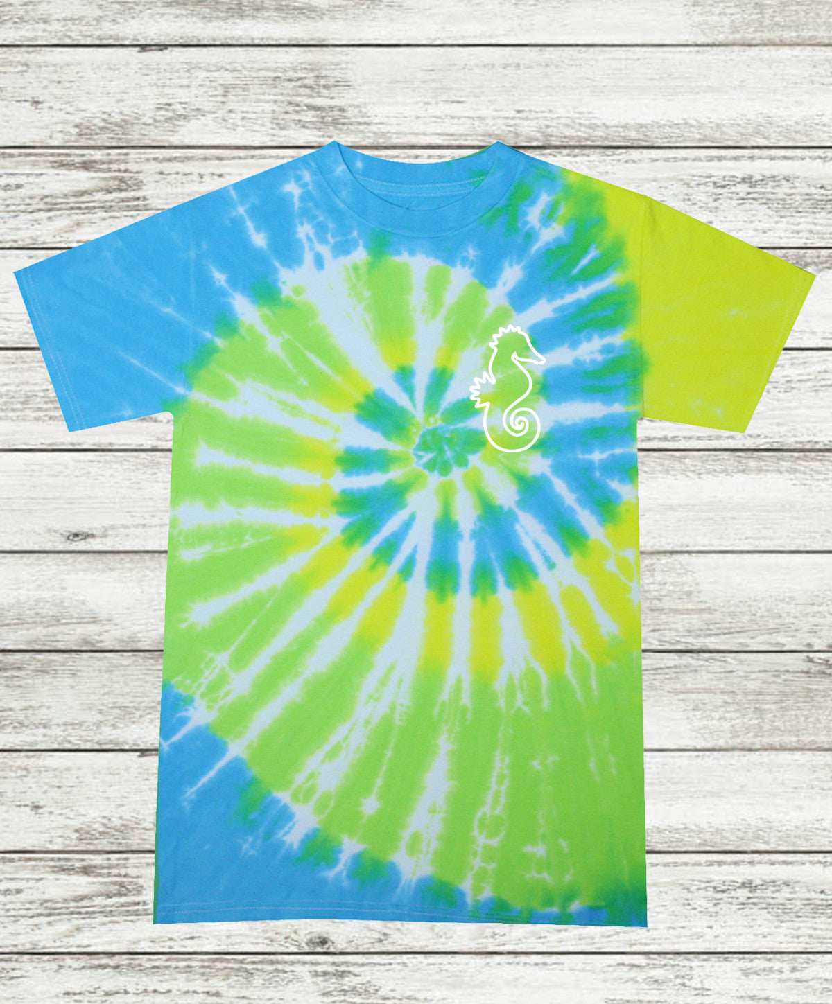 Adult Cool Breeze Tie Dye T-Shirt with Outline Print