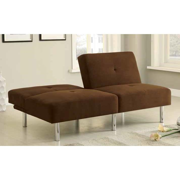 CHOCOLATE MICROFIBER SOFA BED
