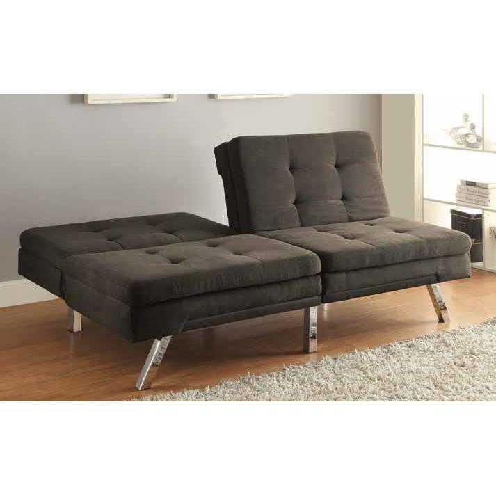 Charcol Microfiber Grey Sofa Bed