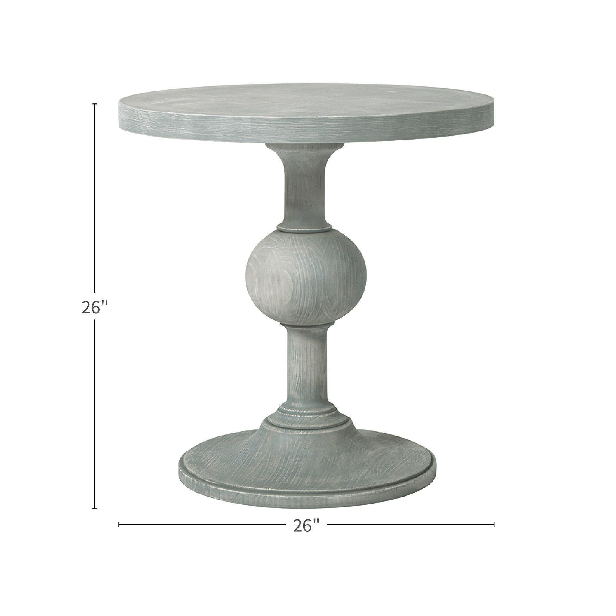 Coastal Living Escape Round Pedestal Side End Table
