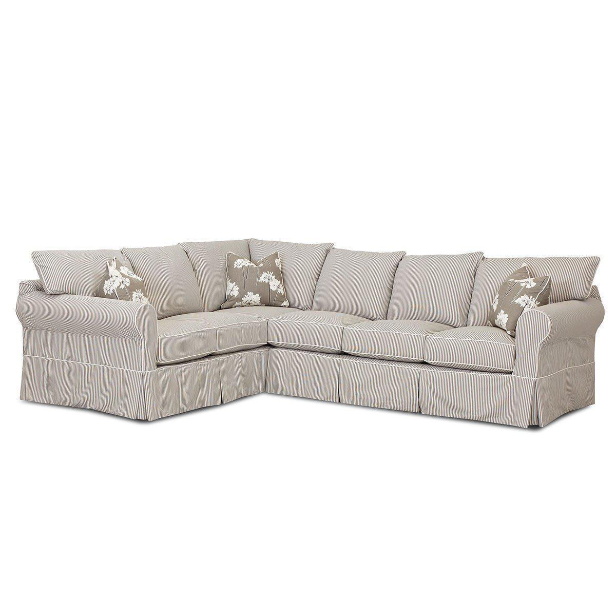 Jenny 2-Piece Slipcover Sectional