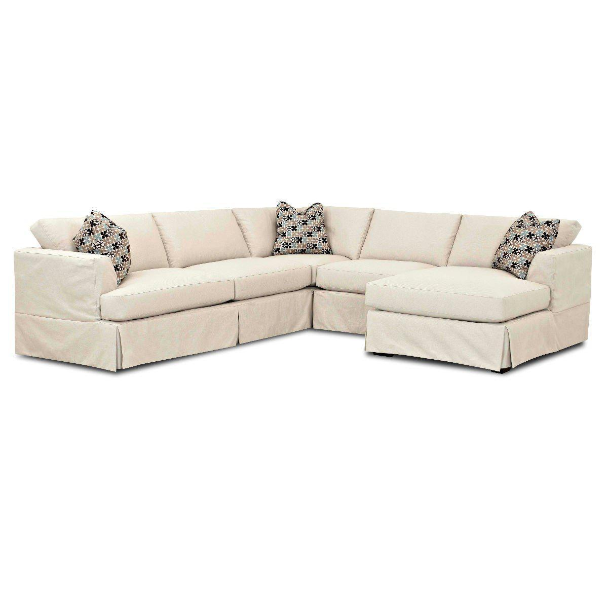 Melissa 4 pc Slipcover Chaise Sectional