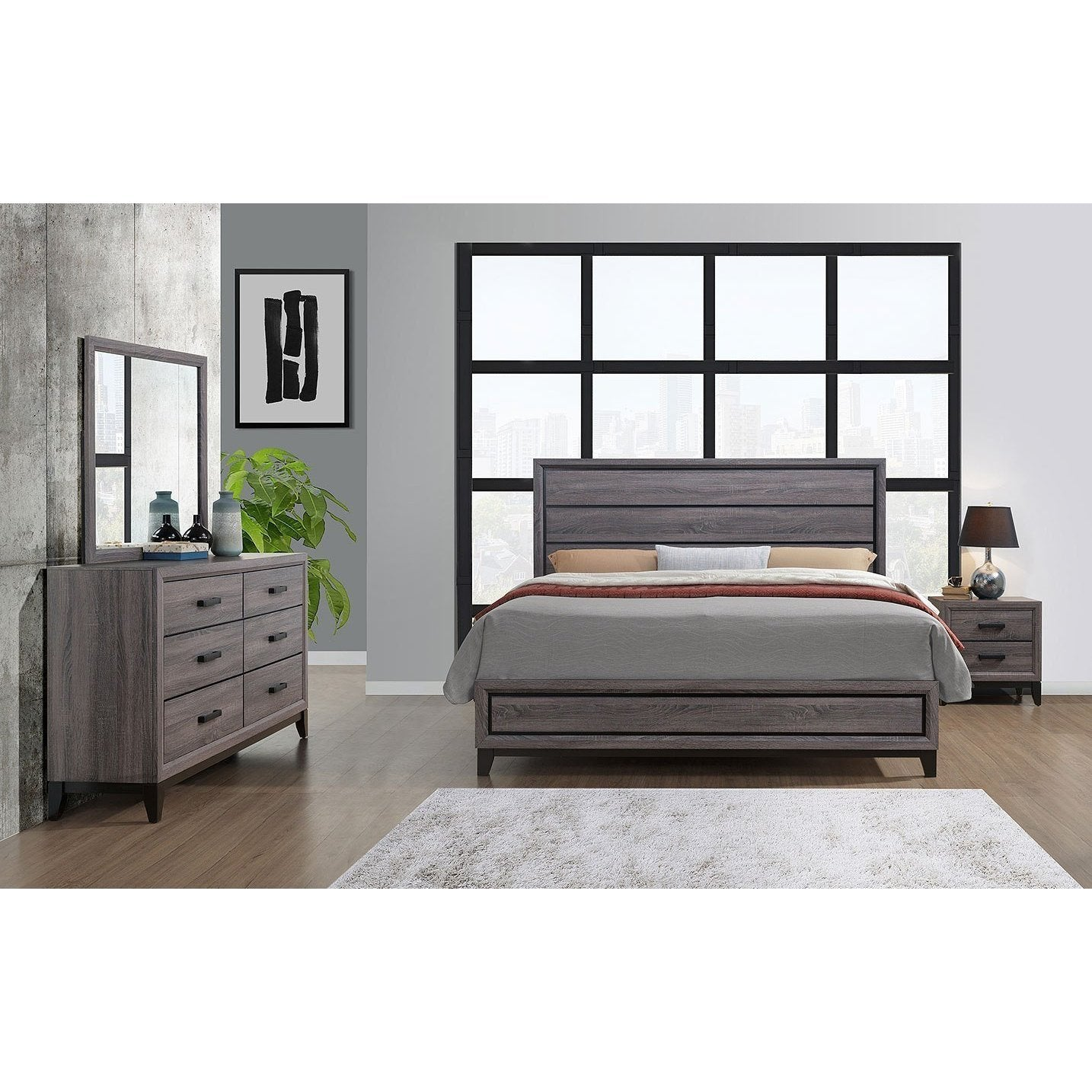 Kate Panel Bedroom Set by Global