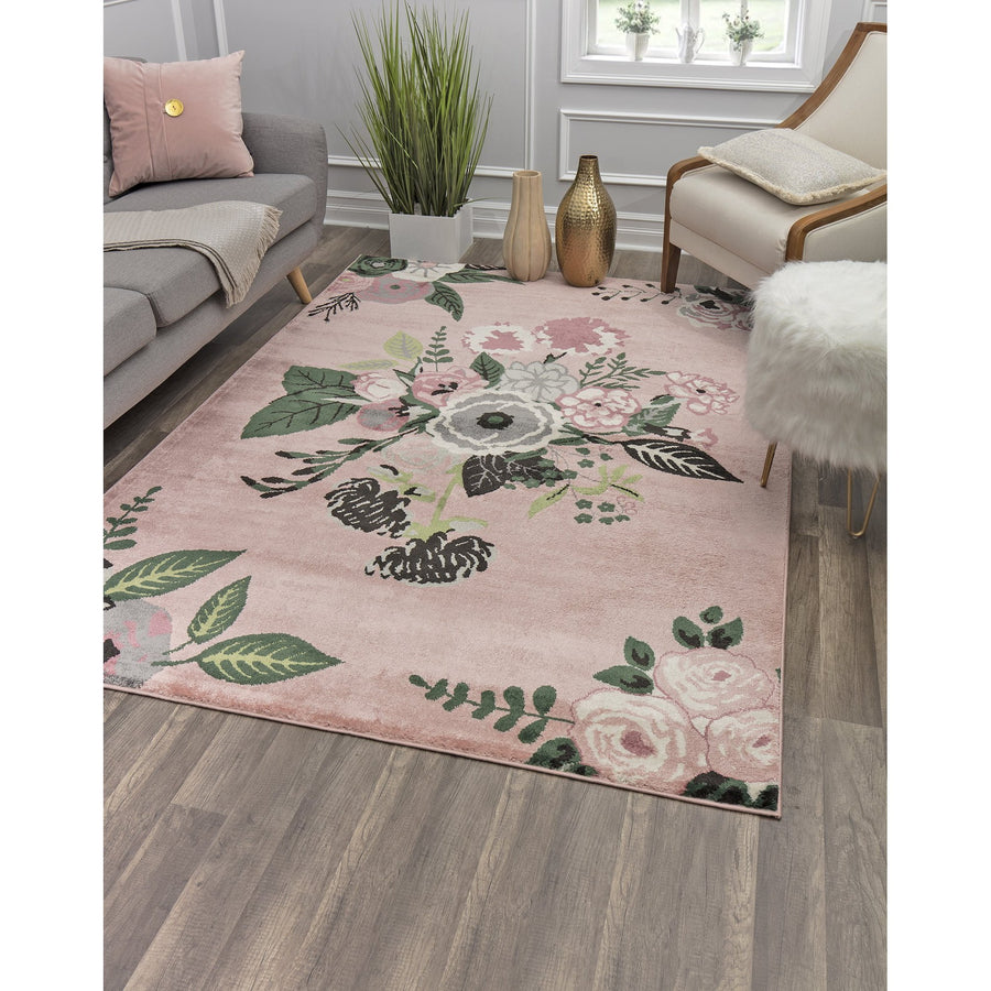 Rose Multi Bouquet Transitional Rug