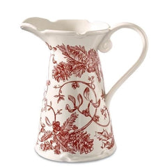 Holly Toile Pitcher