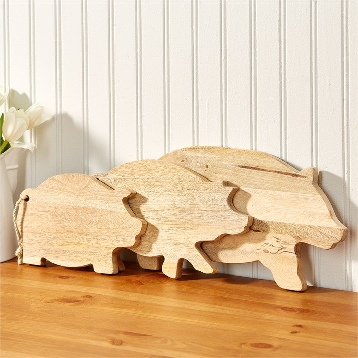 Pig Cutting Boards With Rope Handles