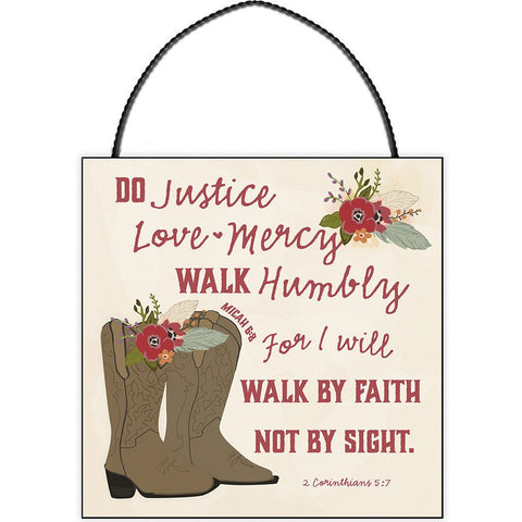 DO JUSTICE, LOVE, MERCY MINI PLAQUE