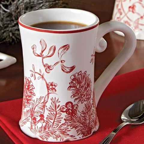Holly Toile Mug