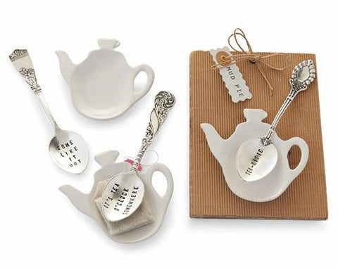 Tea Bag Holder & Spoon