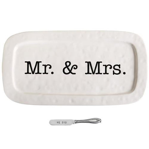 Mr. & Mrs. Wedding Hostess Tray
