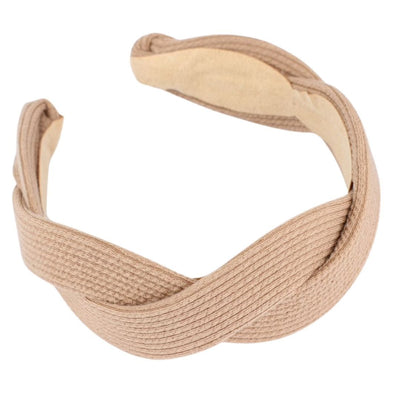 Beige Wave Jersey Headband Headband TLM Edit