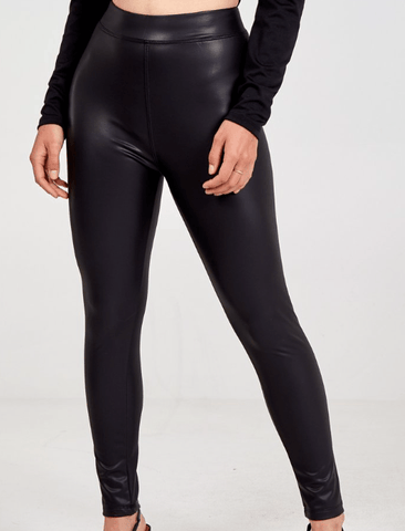 Black High Waisted PU Leggings TLM Edit