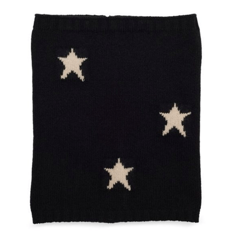 Black Star Print Cashmere Snood Somerville Scarves