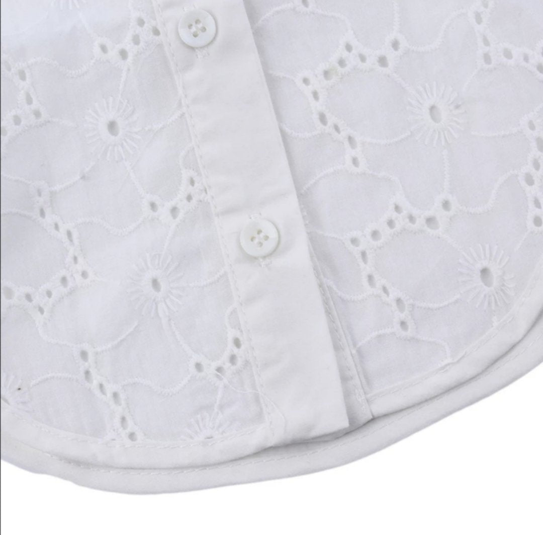 Broderie Anglaise White  Collar 581766