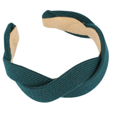 Forest Green Wave Jersey Headband Headband TLM Edit