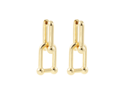 Gold Double Geometric Earrings Earrings TLM Edit