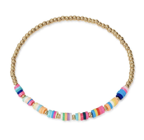 Gold Rainbow Friendship Bracelet TLM Edit