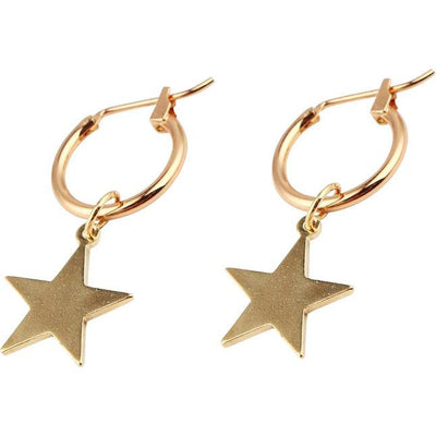 Gold Star Drop Earrings Earrings TLM Edit
