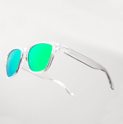Green Mirrored Wayfarer Sunglasses Sunglasses TLM Edit