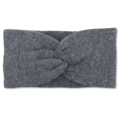 100% Soft Cashmere Knitted Double Layered Headband - Grey TLM Edit Somerville Scarves